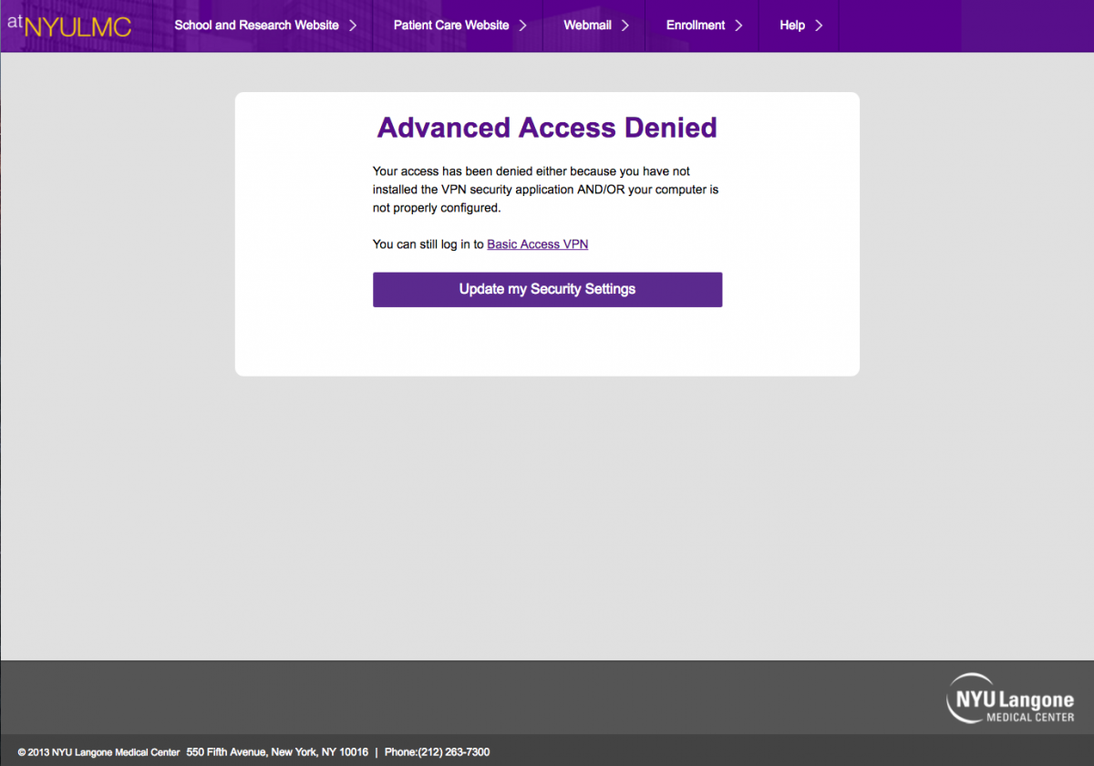 How to Download the VPN Security Application   atNYULMC